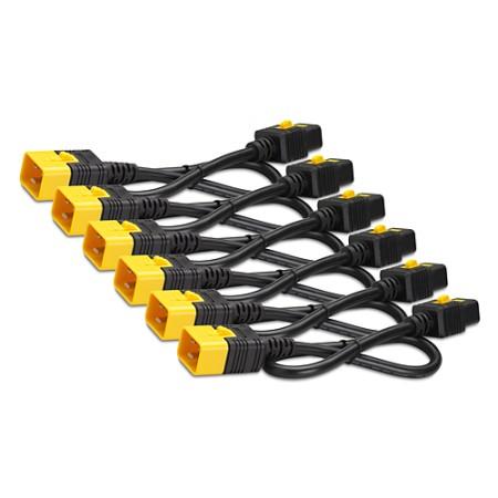 APC Power Cord Kit (6 ea), Locking, C19 to C20 (90 Degree), 1.8m