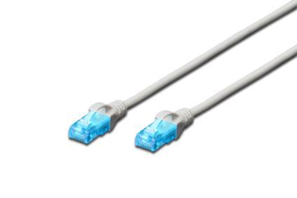 Digitus Ecoline Patch Cable, UTP, CAT 5e, AWG 26/7, šedý 0,5m, 1ks
