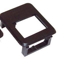 Rámeček pro keystone do patch panelu černý