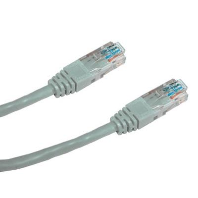 DATACOM Patch cord UTP CAT5E 0,5m šedý
