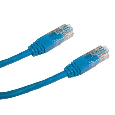 DATACOM Patch cord UTP CAT5E 1m modrý (4-žilový)