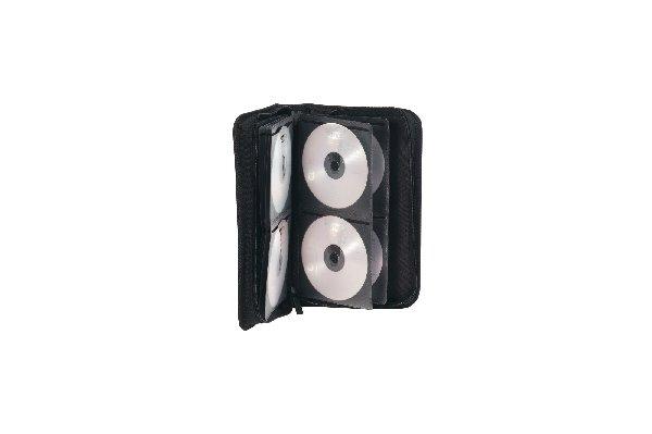 Ednet DVD/CD WALLET 48 nylon material with zip-fastner color: black