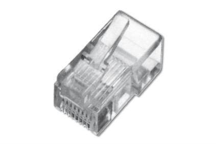 Digitus Modular Plug, for Flat Cable, 4P4C Unshielded 1 ks