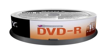 SONY DVD-R 4,7 GB, 16x, tenký obal, 10 ks
