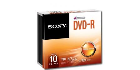 SONY DVD-R 4,7 GB, 16x, tenký obal, 1 ks
