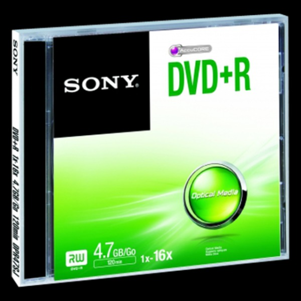 SONY DVD+R 4,7GB Jewel case (120 min)