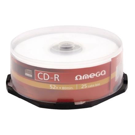 OMEGA CD-R 700MB 52X CAKE*25