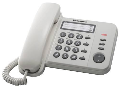Panasonic KX-TS520FXW - jednolinkový telefon, bílý