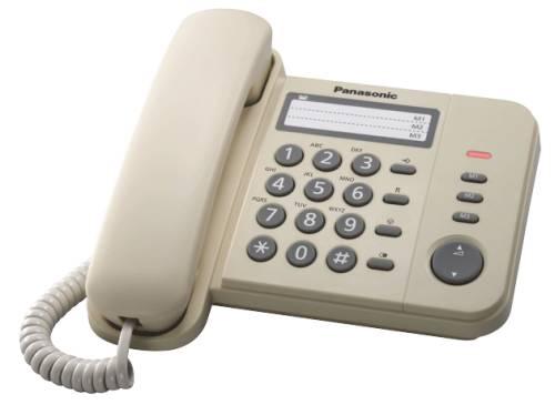 Panasonic KX-TS520FXJ - jednolinkový telefon, béžový