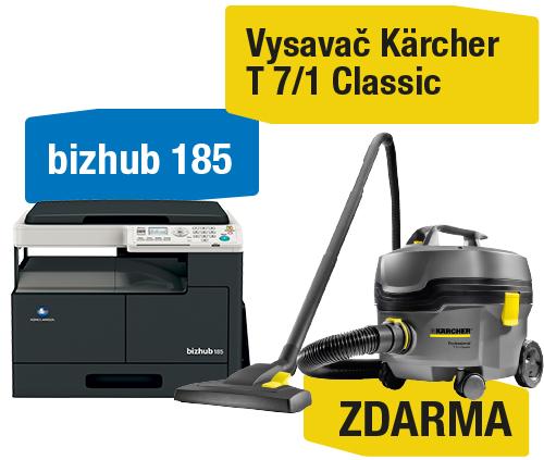 AKCE Konica Minolta Bizhub 185 + Kärcher MV3 Premium
