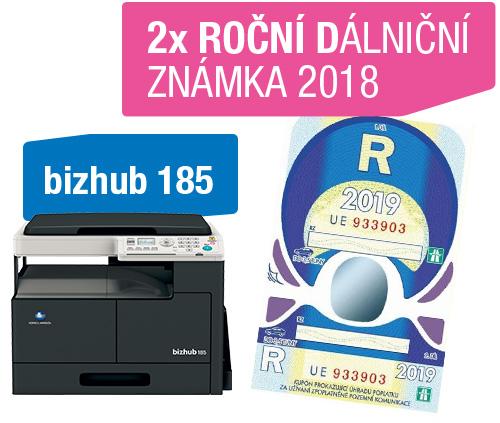 AKCE Konica Minolta Bizhub 185 + 2x dálniční známka 2017