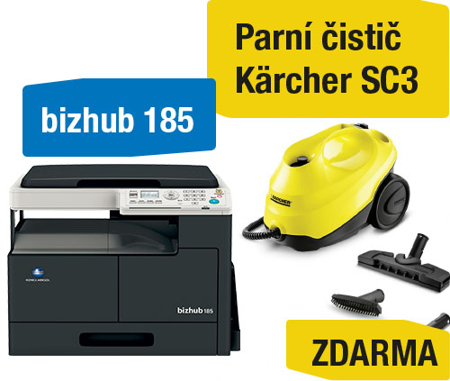 AKCE Konica Minolta Bizhub 185 + Kärcher SC3 parní čistič