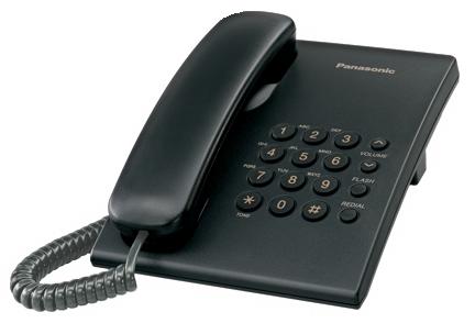 Panasonic KX-TS500FXB - jednolinkový telefon, černý