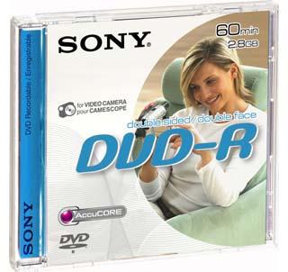 SONY DVD-R 2,8GB, 1 ks