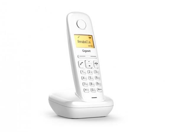 SIEMENS Gigaset A170-WHITE - DECT/GAP bezdrátový telefon, barva bílá