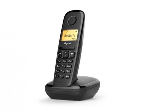 SIEMENS Gigaset A170-BLACK - DECT/GAP bezdrátový telefon, barva černá