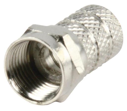 Valueline FC-013 - F-Konektor 8.0 mm zástrčka Kov Stříbrná