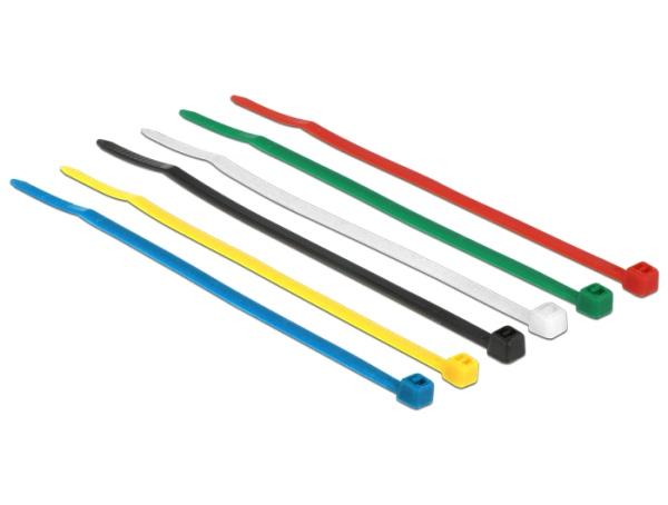 Delock Stahovací pásky barevné L 100 x W 2.5 mm 100 ks