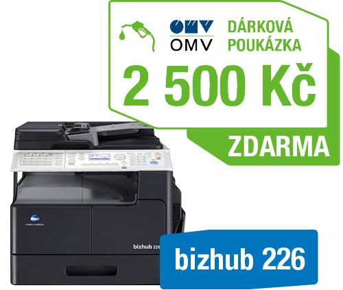 Konica Minolta Bizhub 226 + OMV poukaz 2000Kč