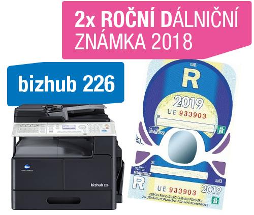 Konica Minolta Bizhub 226 + 2x dálniční známka 2018