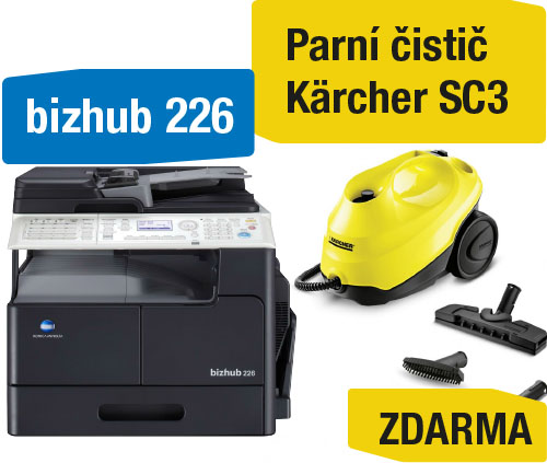 Konica Minolta Bizhub 226 set2 (Bizhub 226+OC-512+TN-118) + Kärcher SC3 parní čistič