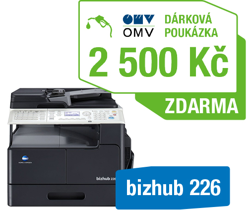 Konica Minolta Bizhub 226 set2 (Bizhub 226+OC-512+TN-118) + OMV poukaz 2000Kč
