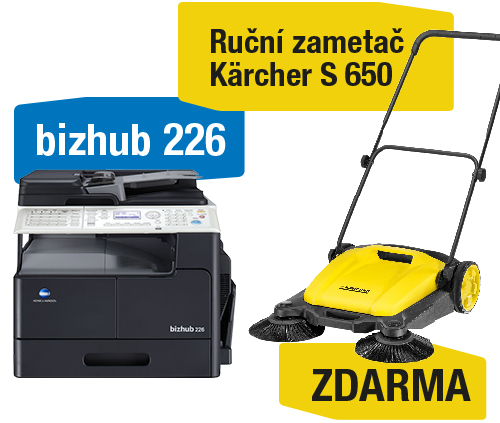 Konica Minolta Bizhub 226 set2 (Bizhub 226+OC-512+TN-118) + Kärcher S 650 ruční zametač