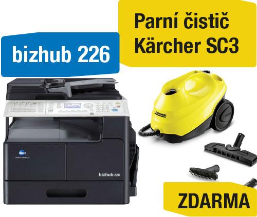 Konica Minolta Bizhub 226 set3 (Bizhub 226+OC-512+TN-118+NC-504+MK-749) + Kärcher SC3 parní čistič
