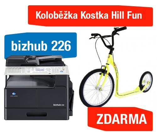 Konica Minolta Bizhub 226 set3 (Bizhub 226+OC-512+TN-118+NC-504+MK-749) + Koloběžka Kostka Hill Fun