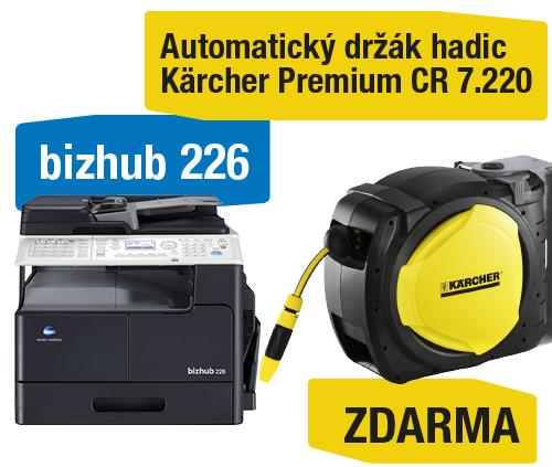 Konica Minolta Bizhub 226 set3 (Bizhub 226+OC-512+TN-118+NC-504+MK-749) + Kärcher Premium CR 7.220 Automatický držák had