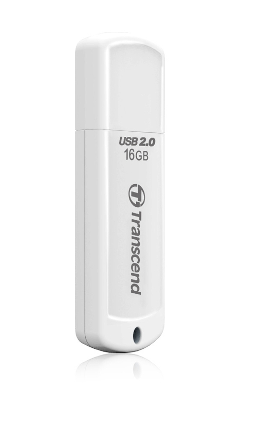 Transcend 16GB JetFlash 370, USB 2.0 flash disk, bílý