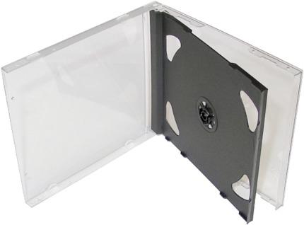 Krabička na 2x CD - černá tray - jewel box