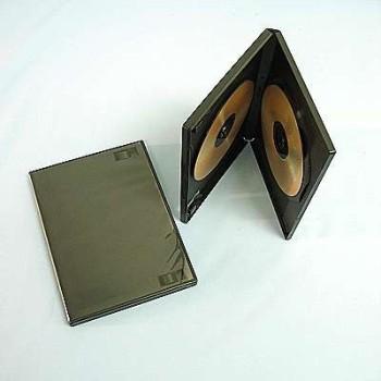 Krabička na 2x DVD - černá, 14mm