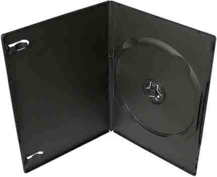 Krabička na 1x DVD - černá - slim 7mm